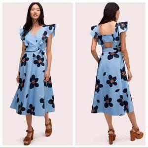 NWOT Kate Spade Grand Flora Poplin MIDI Dress